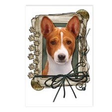 Stone_Paws_Basenji Postcards (Package of 8)