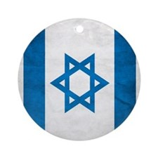 Israel Faded Flag Round Ornament