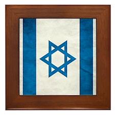 Israel Faded Flag Framed Tile