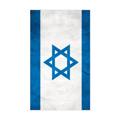Israel Faded Flag Sticker (Rectangle)