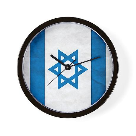 Israel Faded Flag Wall Clock