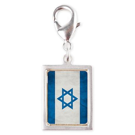 Israel Faded Flag Silver Portrait Charm