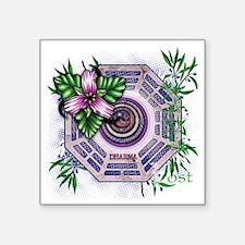 """lost tv dharma orchid dark Square Sticker 3"""" x 3"""""""