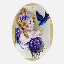 Magnet-Rect-Humphrey-Bluebird Oval Ornament