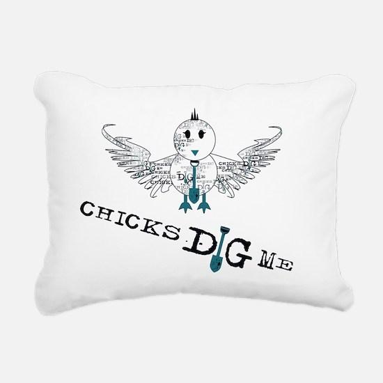 chicks_dig_me_zipper Rectangular Canvas Pillow
