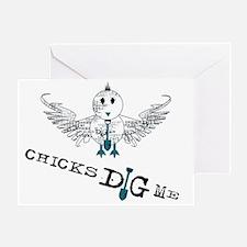 chicks_dig_me_zipper Greeting Card