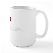 I Heart my Rescue Akita Mug