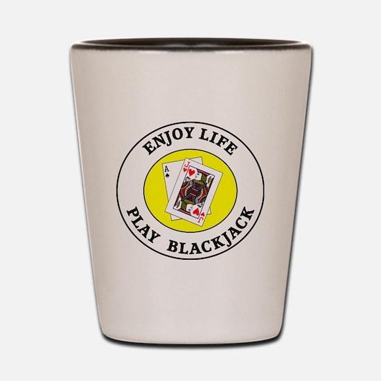 blackjack1 Shot Glass