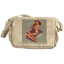 roxanne clock Messenger Bag