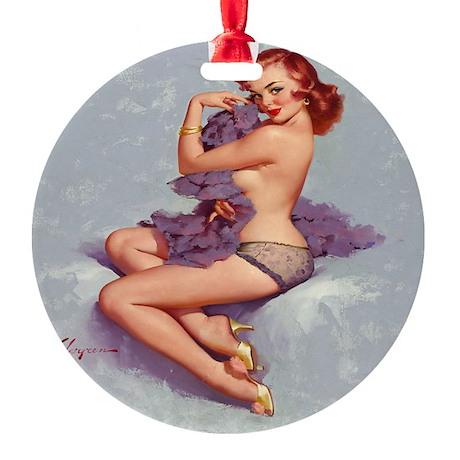roxanne clock Round Ornament