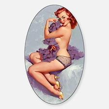 elvgren roxanne small poster Sticker (Oval)