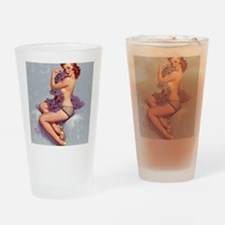 elvgren roxanne small poster Drinking Glass