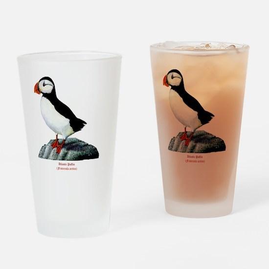 Atlantic Puffin Drinking Glass