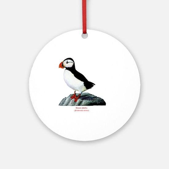 Atlantic Puffin Round Ornament