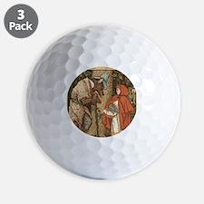 LITTLE RED RIDING HOOD Walter_Crane23 Golf Ball