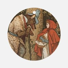 LITTLE RED RIDING HOOD Walter_Crane Round Ornament