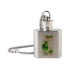 free-vintage-st-patricks-day-clip-a Flask Necklace