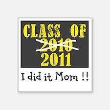 "ClassOf2010-2011 Number2 Square Sticker 3"" x 3"""