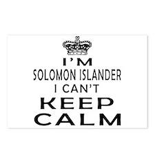 I Am Solomon Islander I Can Not Keep Calm Postcard