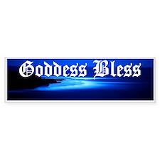 """""""Goddess Bless"""" Bumper Bumper Sticker"""