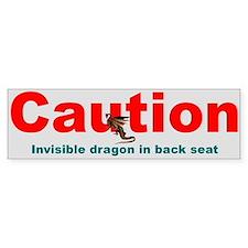 """""""Invisible Dragon"""" Bumper Bumper Sticker"""