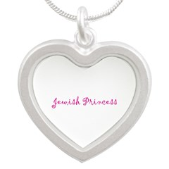Jewish Princess Silver Heart Necklace