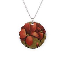 red blooms CherylJames Necklace
