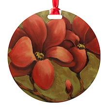 red blooms CherylJames Ornament