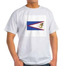 American Samoa Flag Ash Grey T-Shirt