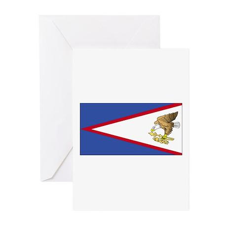 American Samoa Flag Greeting Cards (Pk of 10)