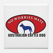 Blue Dog Wear Tile Coaster
