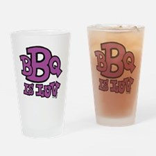 bbqisluv_PURPLE Drinking Glass