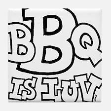 bbqisluv_BW Tile Coaster