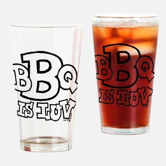 bbqisluv_BW Drinking Glass