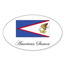 American Samoa - Flag Oval Decal