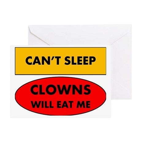 2-clowns Greeting Card