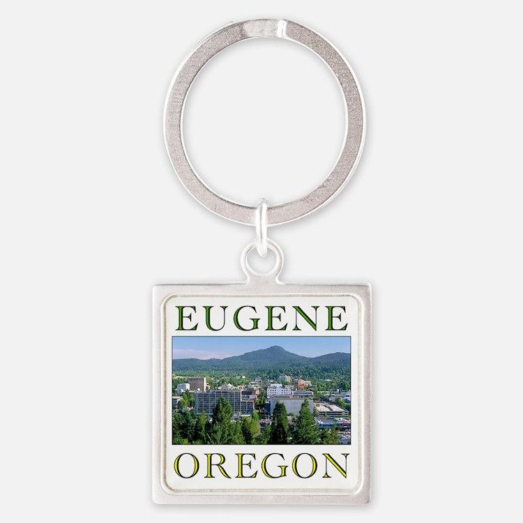 eugene oregon Square Keychain