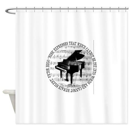 Music Tshirt2 Shower Curtain