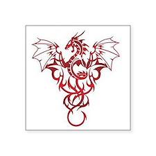 """Dragon-Tribal-Tattoo222 Square Sticker 3"""" x 3"""""""