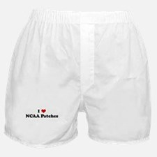 I Love NCAA Patches Boxer Shorts