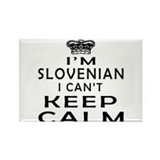 I Am Slovenian I Can Not Keep Calm Rectangle Magne