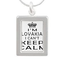 I Am Slovakian I Can Not Keep Calm Silver Portrait