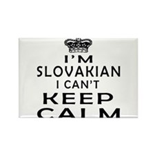 I Am Slovakian I Can Not Keep Calm Rectangle Magne