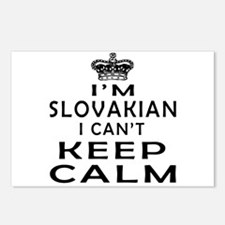 I Am Slovakian I Can Not Keep Calm Postcards (Pack