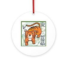 TigerTshirt Round Ornament