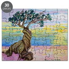 Divi Divi Tree Sunset Puzzle