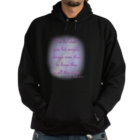 For He Shall Give his Angels Charge Hoodie (dark)