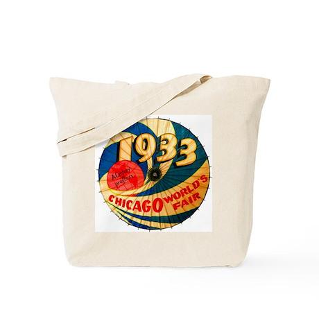 1933 Chicago Worlds Fair Parasol Advertis Tote Bag