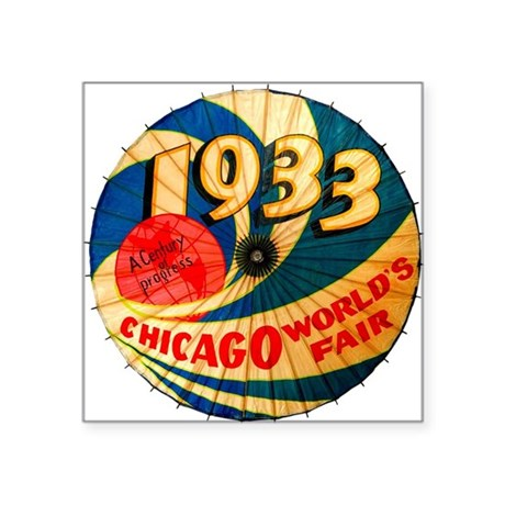 "1933 Chicago Worlds Fair Pa Square Sticker 3"" x 3"""