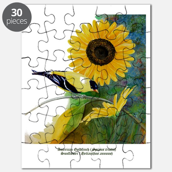 Goldfinch and Sunflower Puzzle